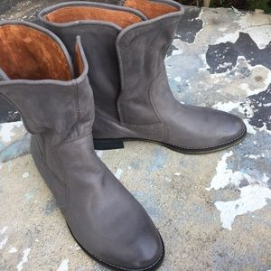 Michael Shannon corbel gray leather boots 10 new